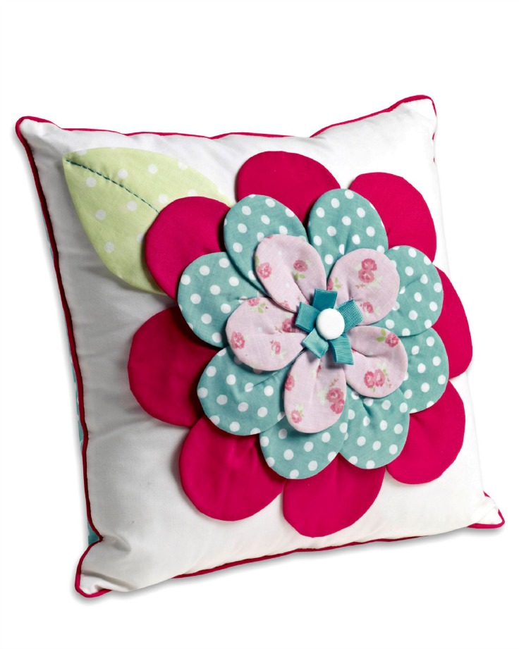 Next 3D Posie Patch Cushion, children's cushion, kids bedroom accessory