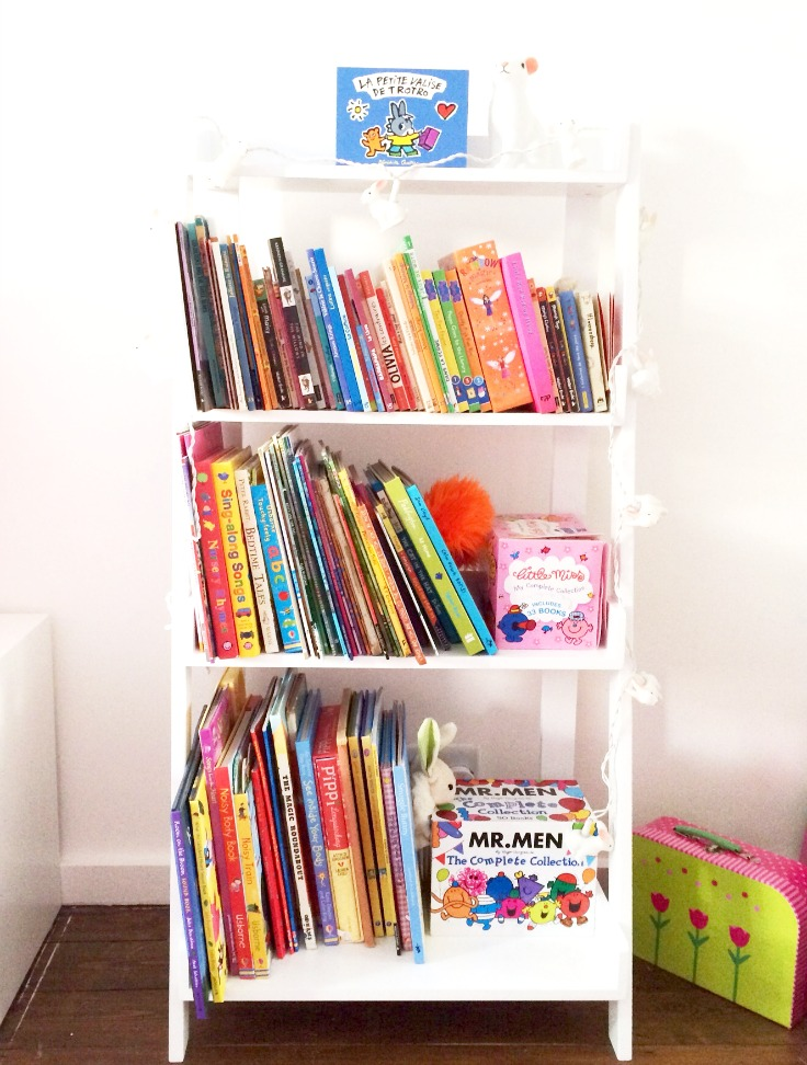 GLTC White Ladder Book Case, Great Little Trading Company White Ladder Book Case, Kid's Book Case,