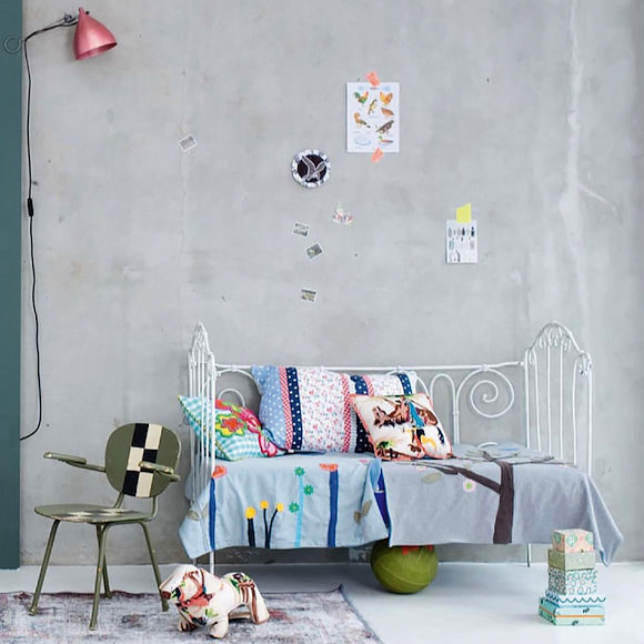 Grey colour scheme kids bedroom styled by Maria GrossMann