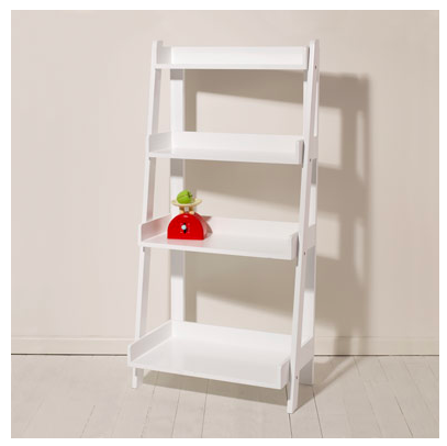 GLTC White Ladder Book Case, Great Little Trading Co Book Case
