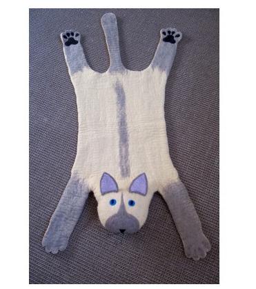 Suki the Cat Rug, Sew Heart Felt Animal Rugs, Sew Heart Felt