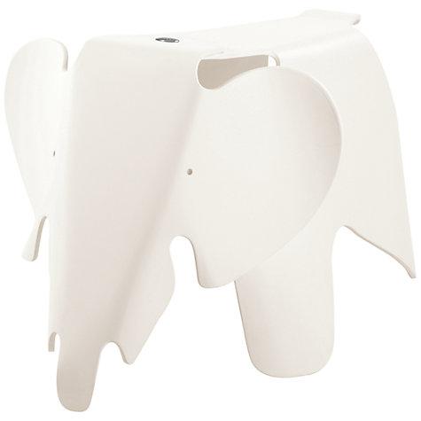Vitra Eames Elephant in White, White Eames Elephant, Original Eames Elephant