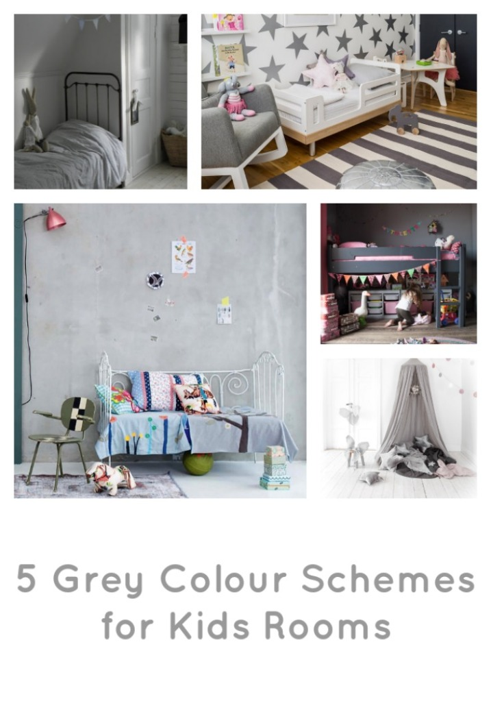 5 Grey Colour Schemes for Kids Rooms, grey decor for kids bedroom, grey kids room, grey kids playroom