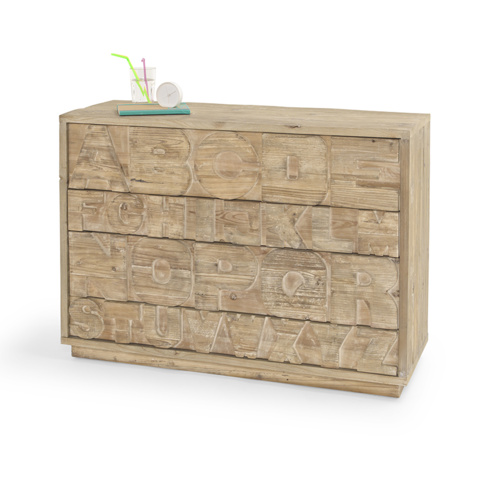 Letter Head ABC chest of drawers by Loaf, reclaimed wood furniture, Loaf