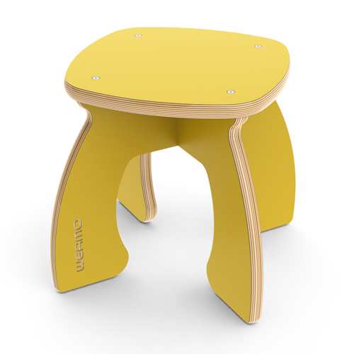 Weamo Midi Stool in Sunshine Yellow
