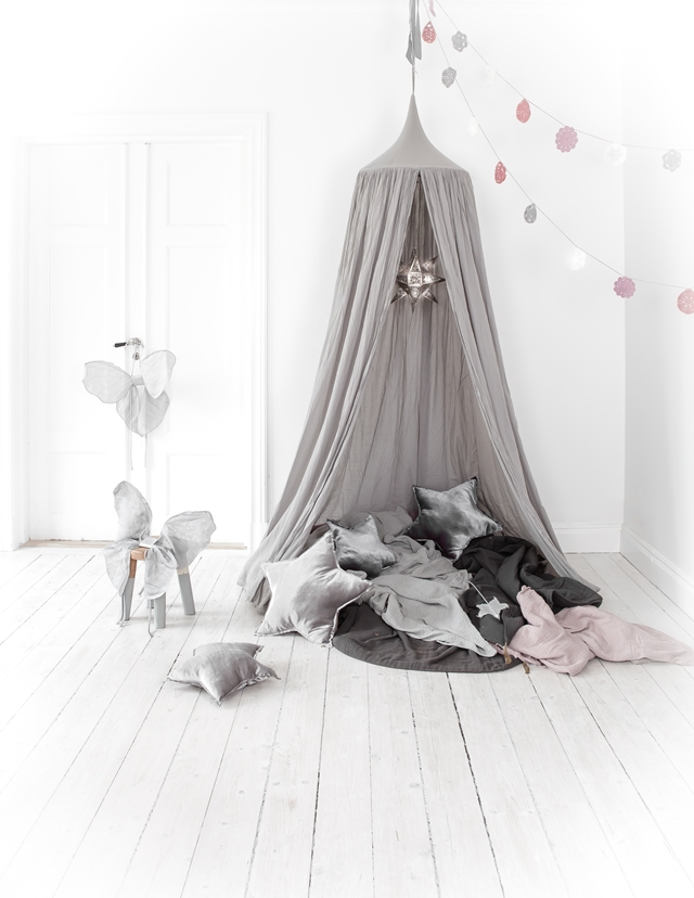 Grey kids tent, grey kids canopy, grey kids room decor