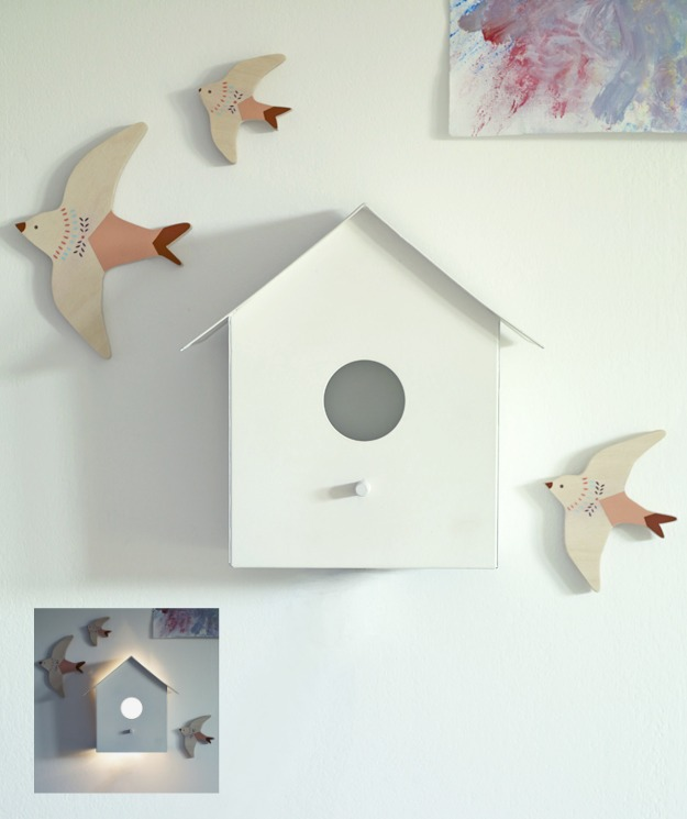 Hallie Birdhouse Wall Light, Rowen & Wren, Kids Wall Light