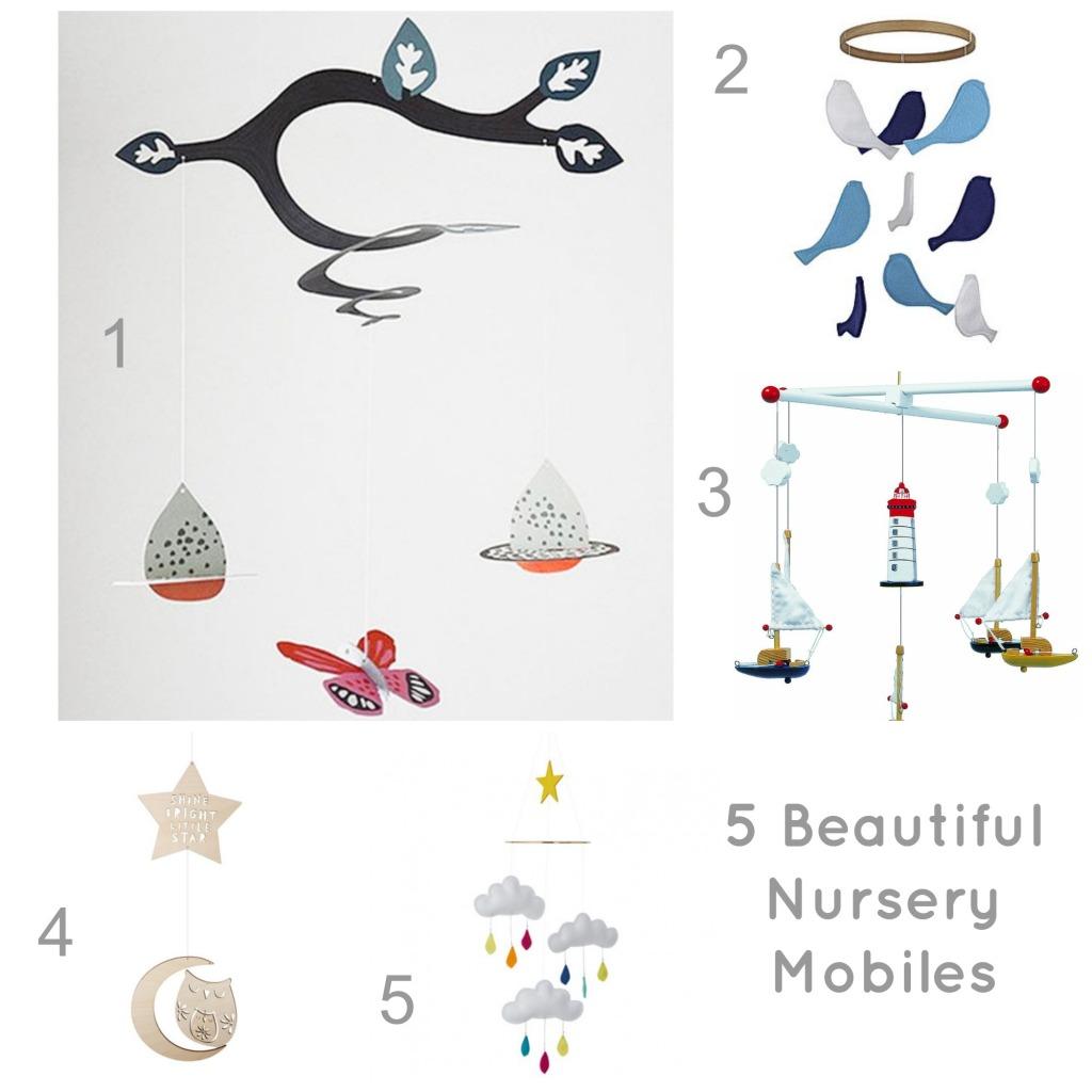 Baby mobile, nursery mobile, nursery ceiling mobile, ideas for baby mobiles