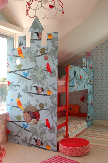 IKEA hack: how to transform an IKEA bunk bed into a fantastical bed play castle