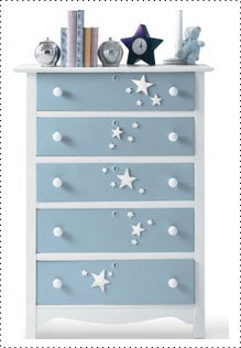 Step by step DIY guide for decorating a kids dresser, Kids dresser with stars