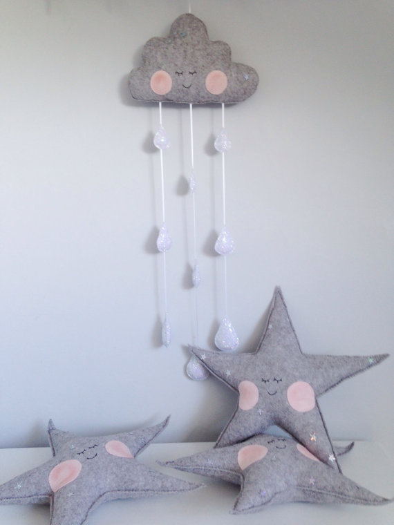 Sleepy Star cushion by Velveteenbabies on Etsy