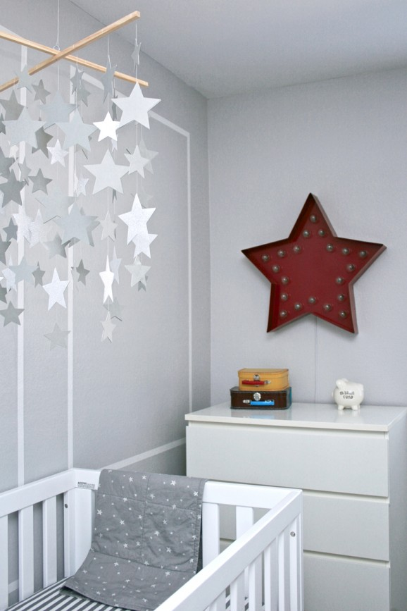 Stargazer nursery decor, star theme nursery decor
