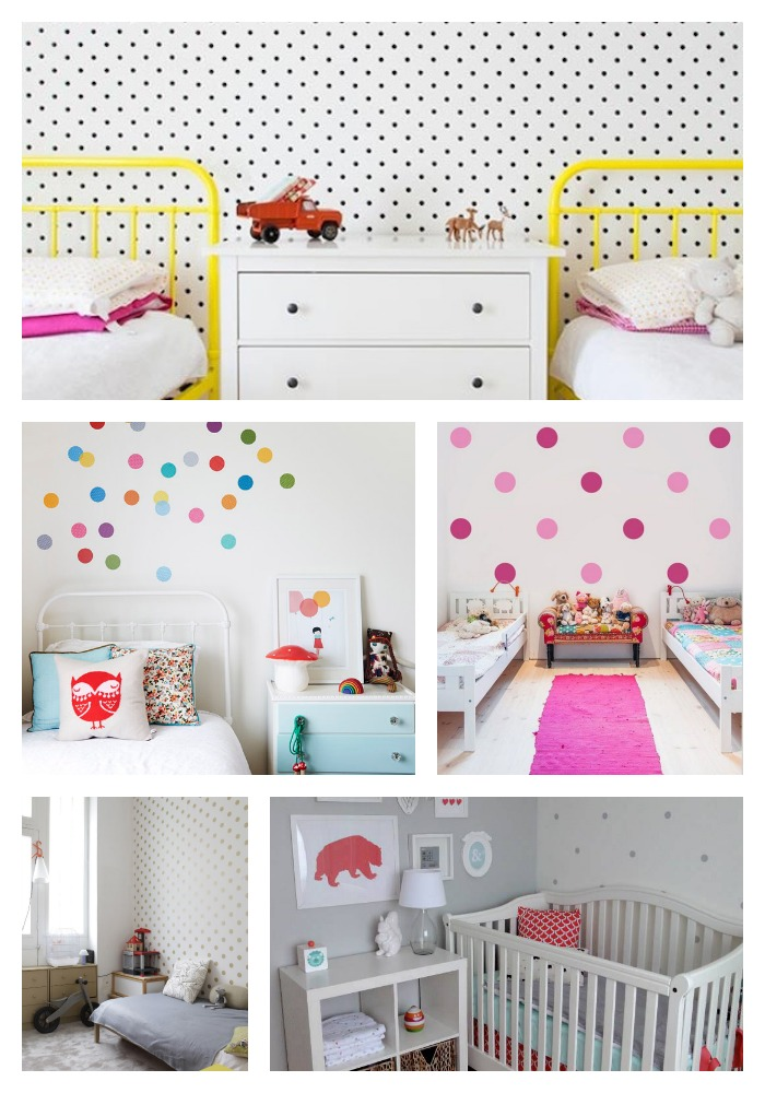 Polka Dot decals and wall stickers inspiration for kids rooms and nurseries