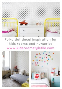 Polka Dot Decals, Polka Dot Wall Stickers, Polka Dot walls, Polka Dot kids room, Polka Dot nursery