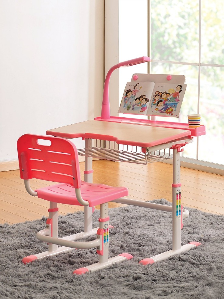 Kids Desk Chair Height Adjustable Children Study Desk Childrens Table and Chairs Ergonomic Design