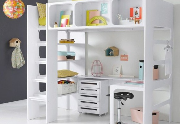 La Redoute Loft Bed with Desk