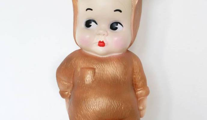 Copper baby lapin night light by Lapin & Me