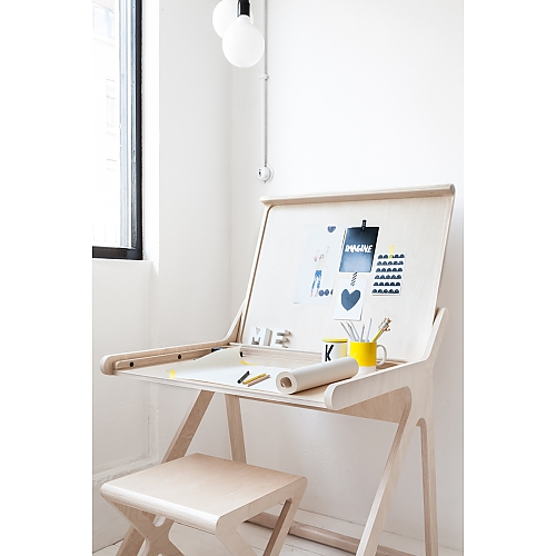Rafa Kids Desk, Plywood Desk, Kids Room Style, Kids Decor Inspiration